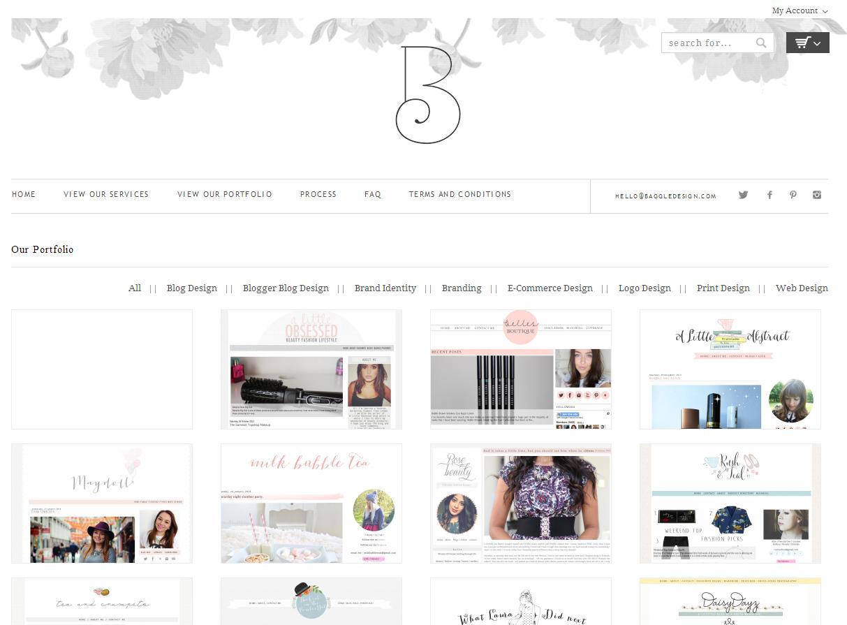 Baggle blog design