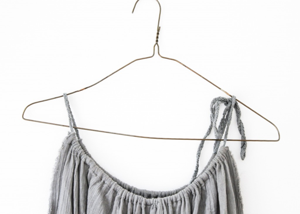 picture of grey dress on hanger