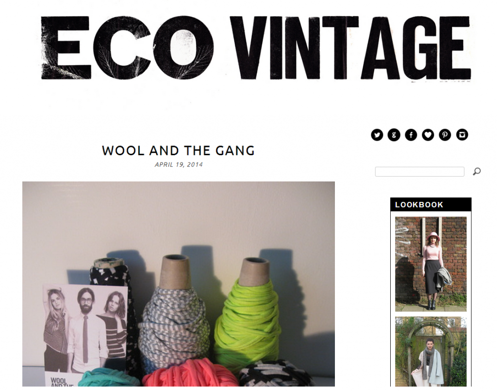 Eco Vintage blog screen grab