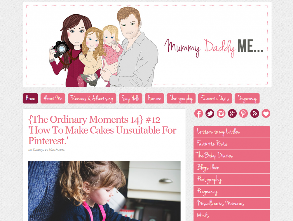 Mummy Daddy and Me Makes Three homepage screen grab