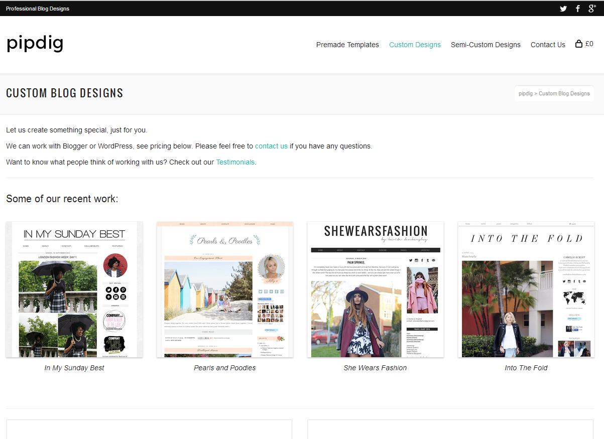 Pipdig web design