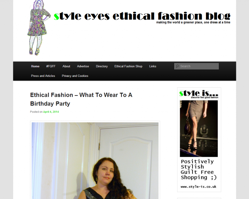Style Eyes blog screen grab