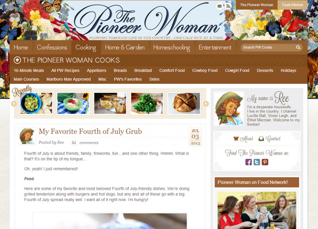 The Pioneer Woman screen grab
